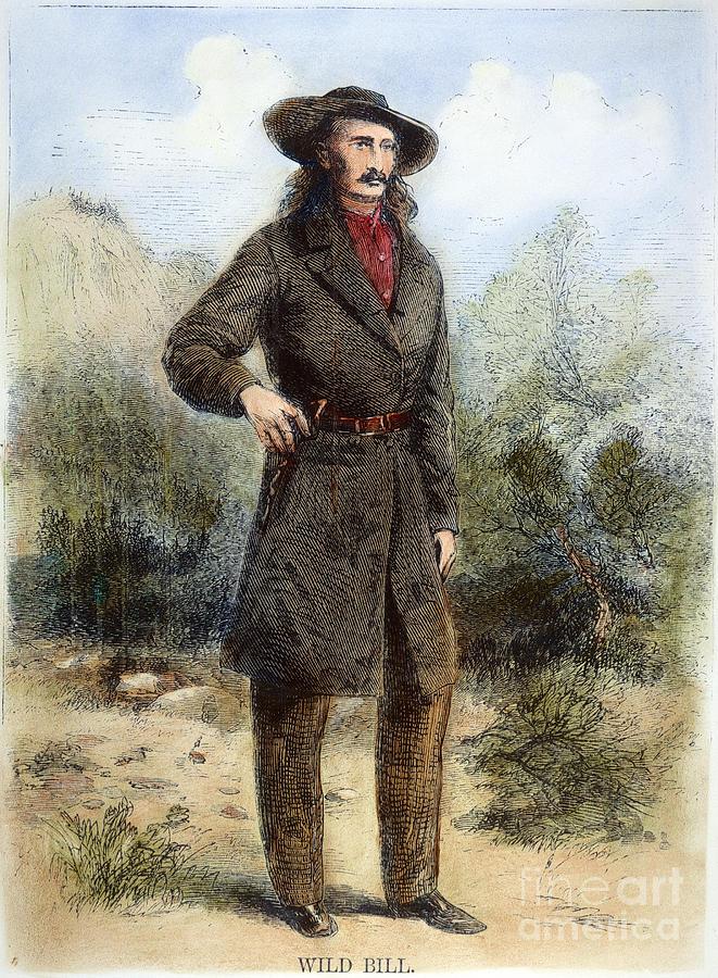 1867 Photograph - Wild Bill Hickok (1837-1876) by Granger