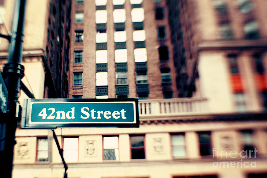42nd Street Photograph - 42nd Street by Kim Fearheiley