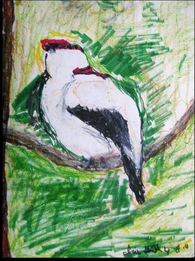 Bird Drawing - Untitled by Iris Gill