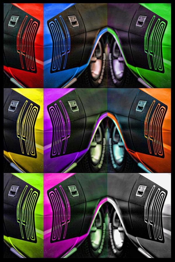 440 Photograph - 440 Cuda Billboard Pop by Gordon Dean II