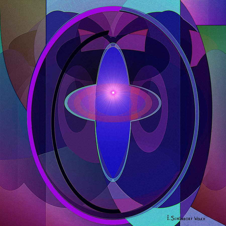 Abstract Digital Art - 466 - Elliptical Fantasy by Irmgard Schoendorf Welch