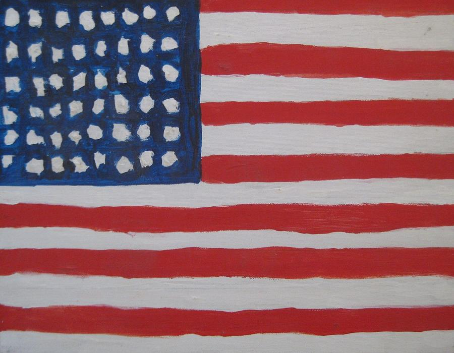 Flag Painting - Untitled by Iris Gill