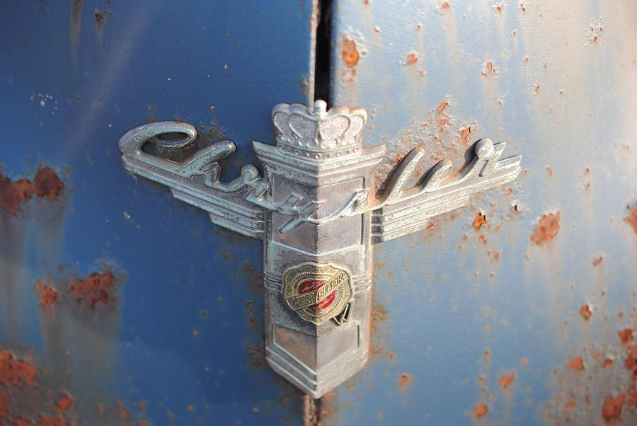 Old Photograph - 48 Chrysler Hood Emblem by Gordon H Rohrbaugh Jr