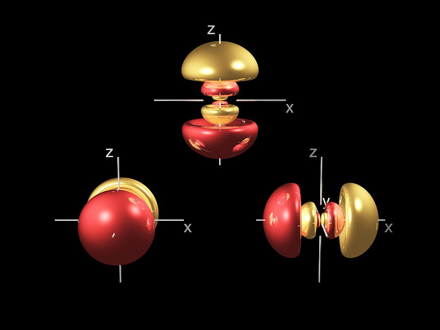 4p Photograph - 4p Electron Orbitals by Dr Mark J. Winter