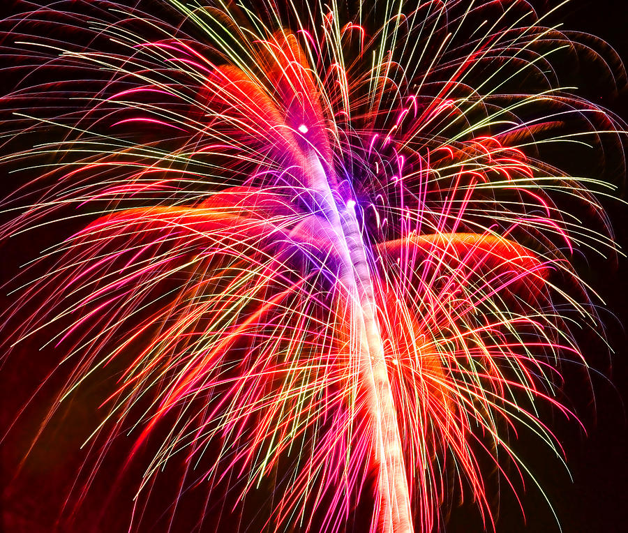 United Photograph - 4th Of July - Independence Day Fireworks by Gordon Dean II