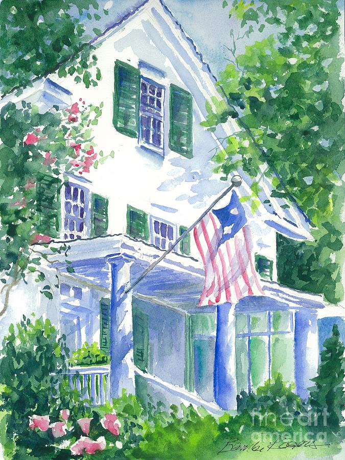 Watercolor Painting - 4th Of July In Georgia by Bambi Rogers