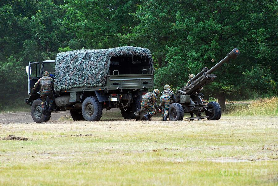 Lg1 Photograph - A Belgian Artillery Unit Setting by Luc De Jaeger