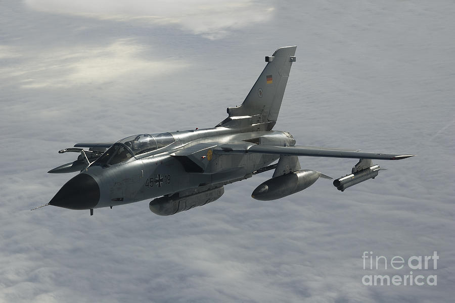 Germany Photograph - A Luftwaffe Tornado Ids Over Northern by Gert Kromhout
