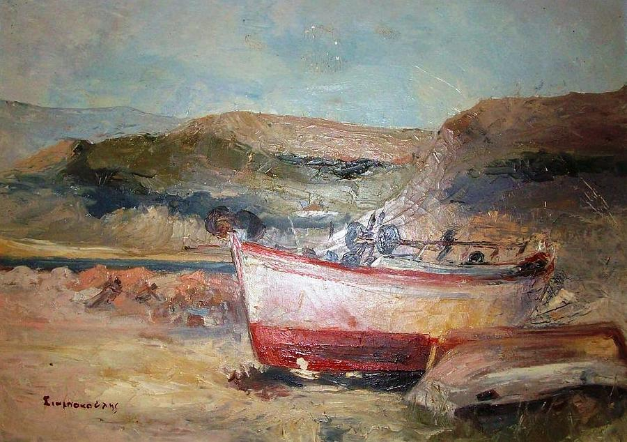 Boat Painting - Boats by George Siaba