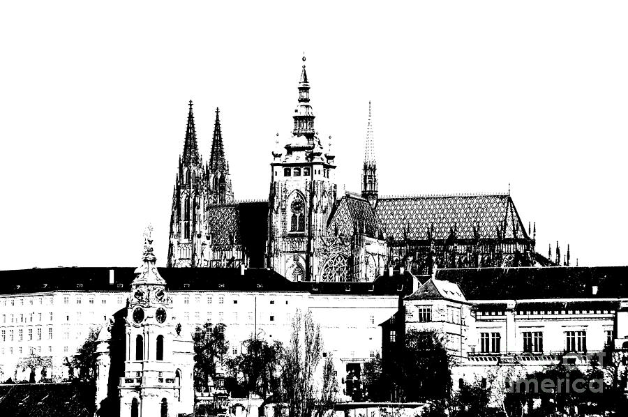 Prague Castle Mixed Media - Cathedral Of St Vitus by Michal Boubin