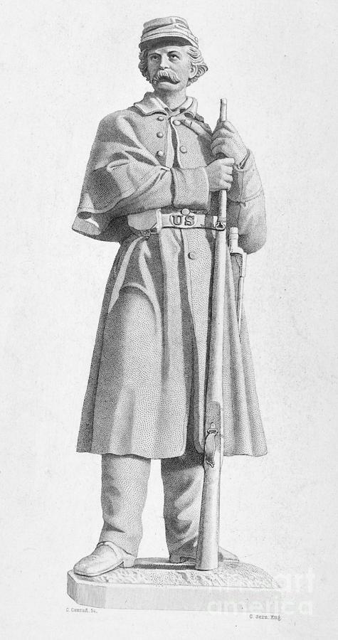 1876 Photograph - Civil War: Soldier by Granger