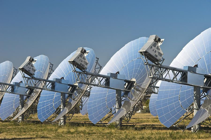 Equipment Photograph - Concentrating Solar Power Plant by David Nunuk
