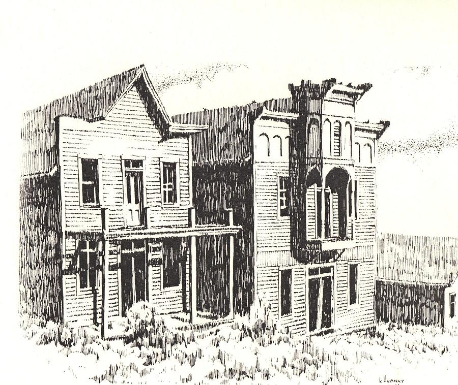 Elkhorn Ghost Town Montana Drawing By Kevin Heaney