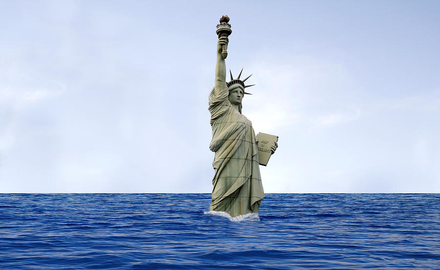 Statue Of Liberty Photograph - Global Warming by Tony Craddock