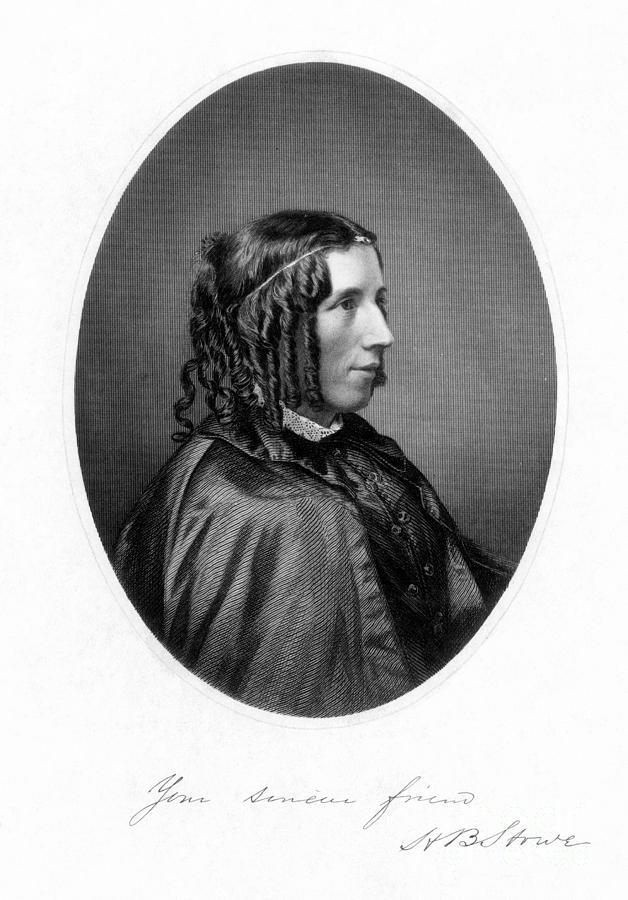 1853 Photograph - Harriet Beecher Stowe by Granger