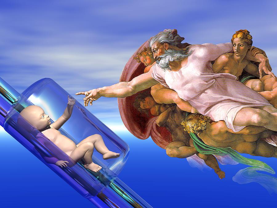 God Photograph - Human Cloning by Laguna Design