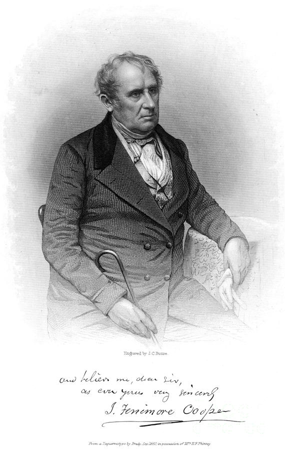 1852 Photograph - James Fenimore Cooper by Granger