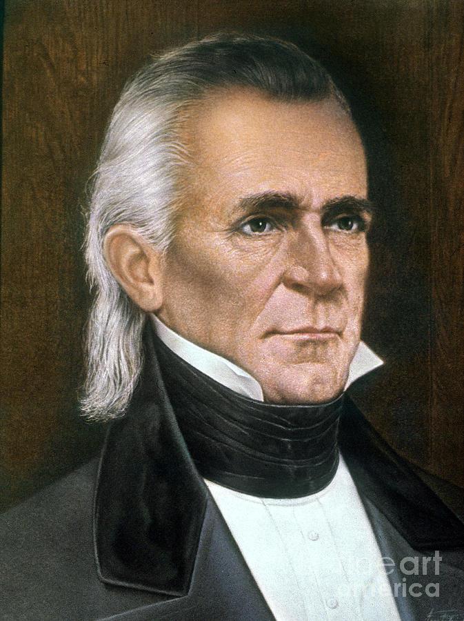James K Polk 1795 1849 Photograph By Granger