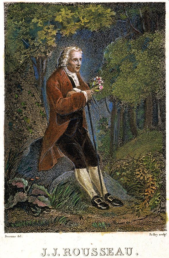 18th Century Photograph - Jean-jacques Rousseau by Granger