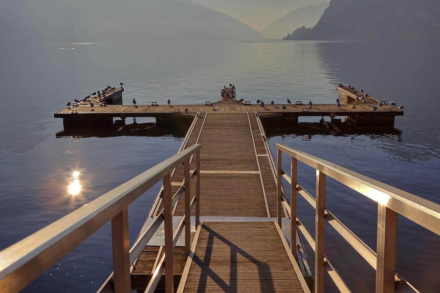 Dock Photograph - Lago Di Lugano by Joana Kruse