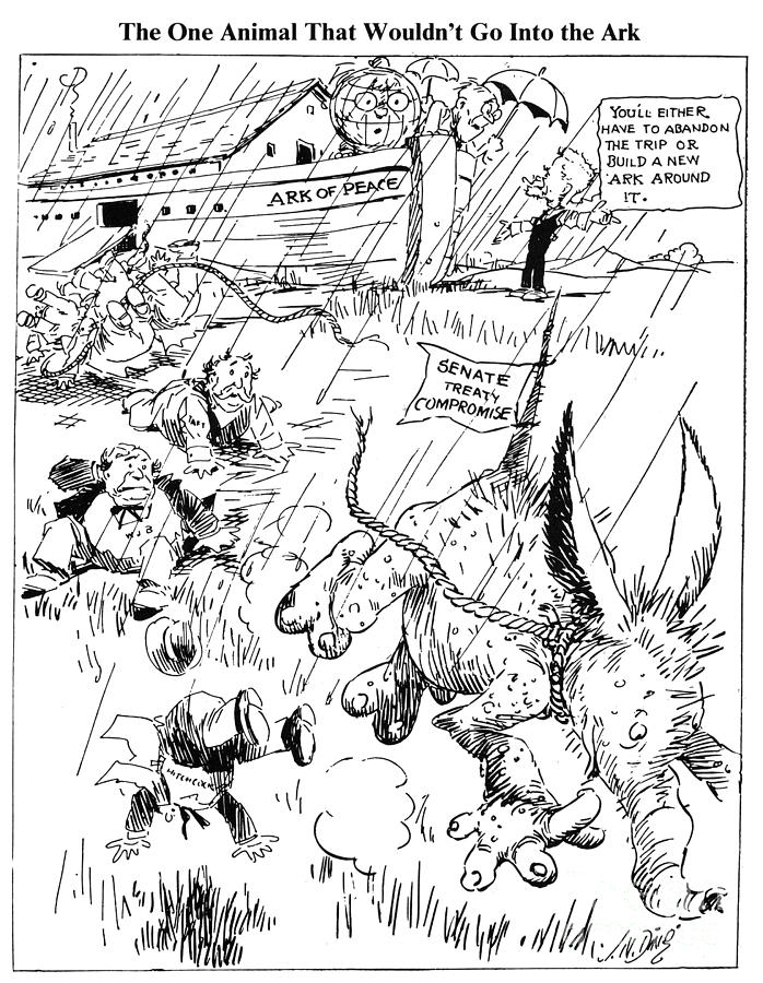 1920 Photograph - League Of Nations Cartoon by Granger