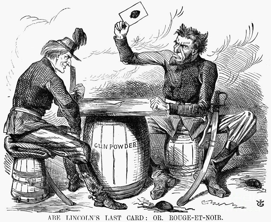 Lincoln Cartoon 1862 Photograph By Granger
