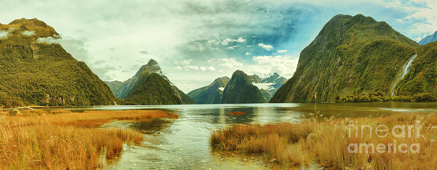 Panorama Photograph - Milford Sound by MotHaiBaPhoto Prints
