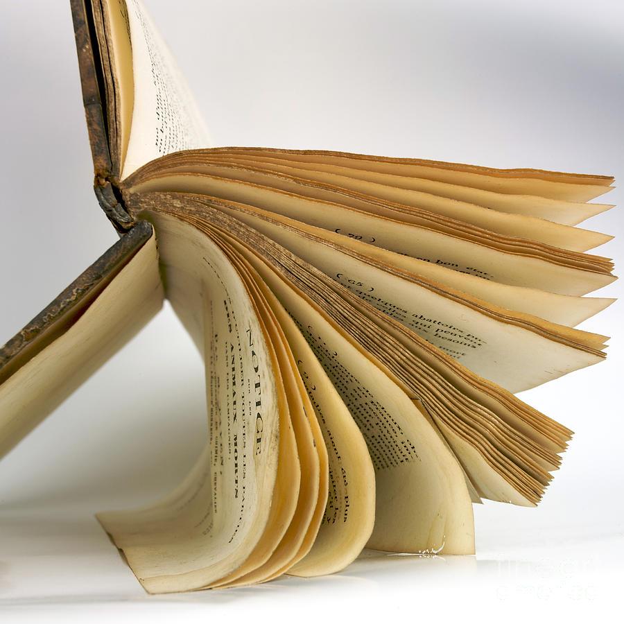 Cut Out Photograph - Old Book by Bernard Jaubert