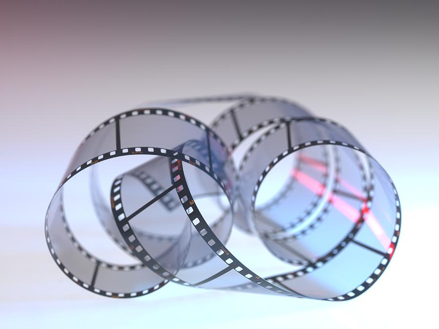 Grey Background Photograph - Photographic Film by Tek Image