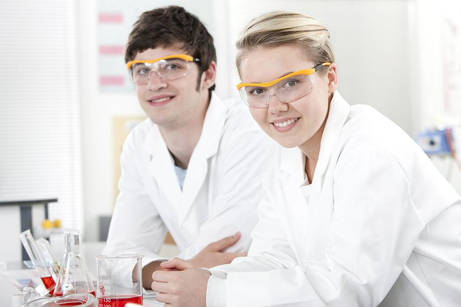 Interior Photograph - Pupils In A Science Lesson by