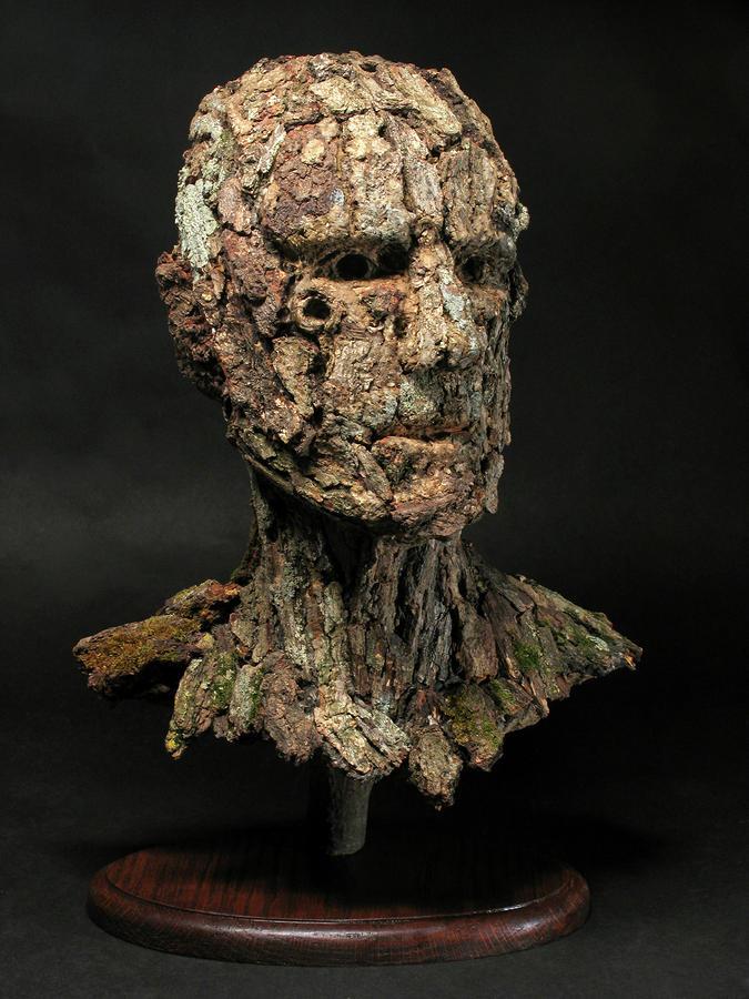 Revered A Natural Portrait Bust Sculpture By Adam Long