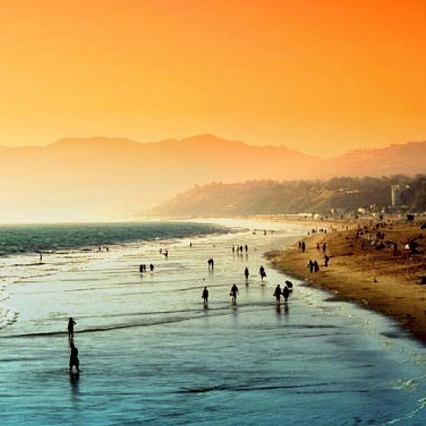 Beautiful Photograph - Santa Monica Beach by Luisa Azzolini