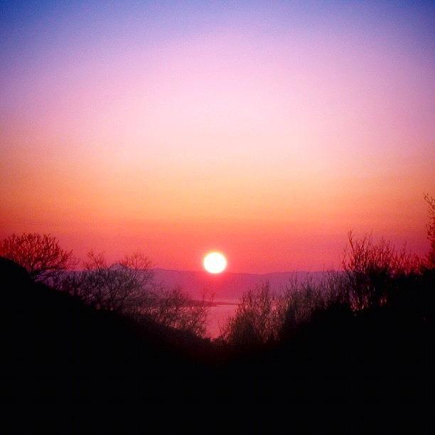 Scenery Photograph - Scottish Sunset by Luisa Azzolini
