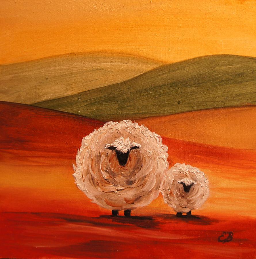 Sheep Painting By Elizabeth Barrett