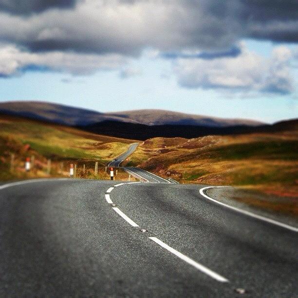 Shetland Photograph - Shetlands Road by Luisa Azzolini