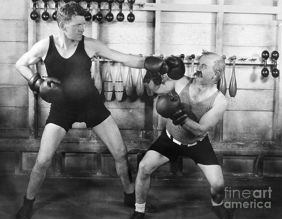 -sports- Photograph - Silent Film Still: Boxing by Granger