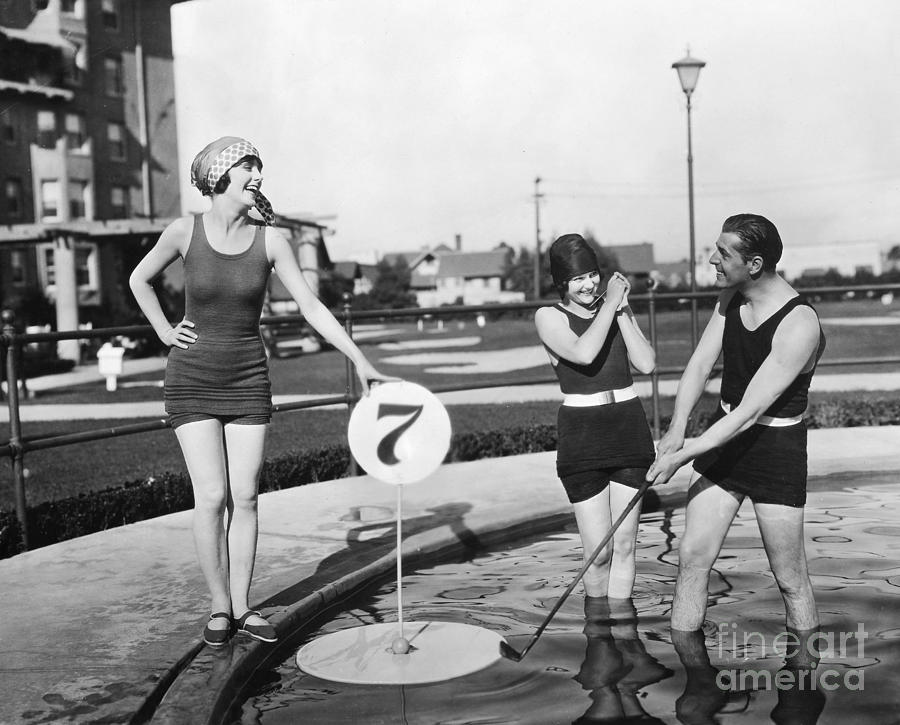 1920s Photograph - Silent Film Still: Golf by Granger