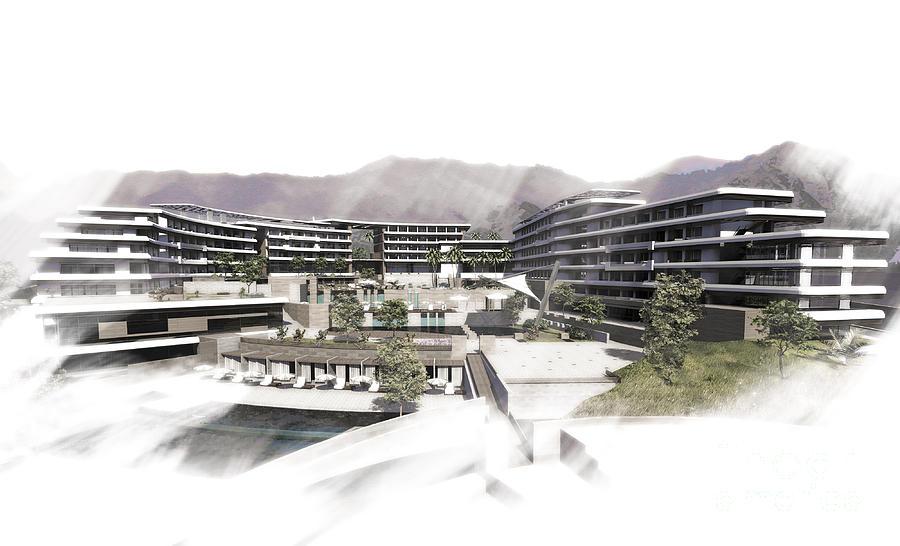 5 Stars Hotel Dead Sea Digital Art by DotDesign Memusleh