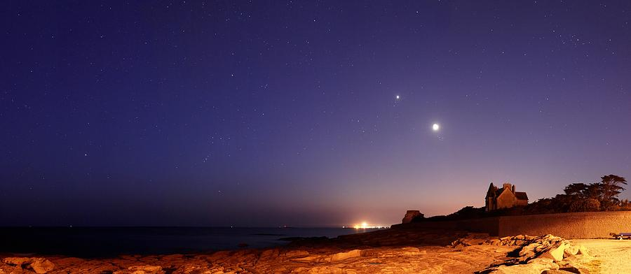 Astronomy Photograph - Stars In A Night Sky by Laurent Laveder