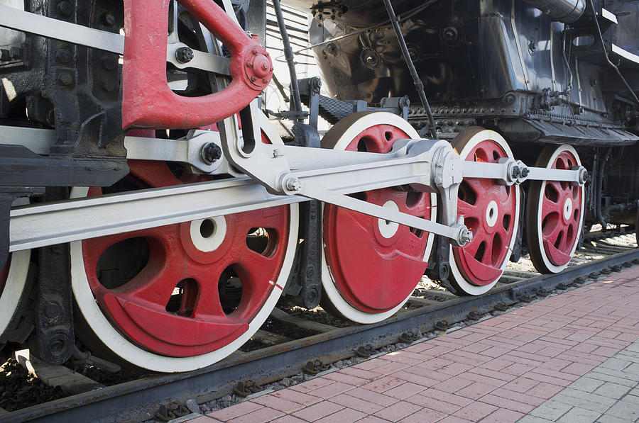 Steam Locomotive Wheels Photograph