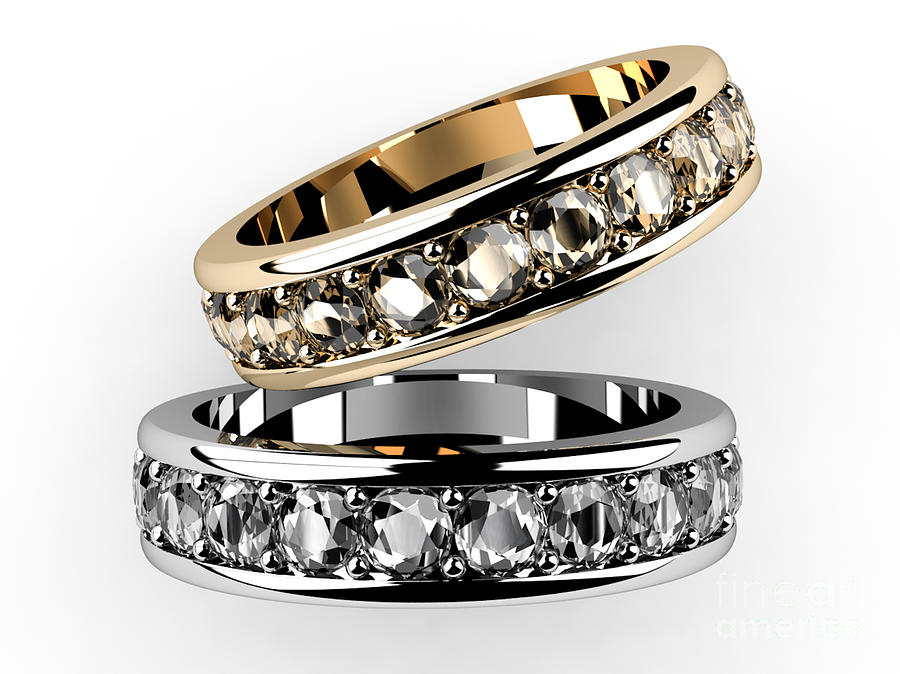 Accessories Digital Art - The Beauty Wedding Ring  by Rattanapon Muanpimthong