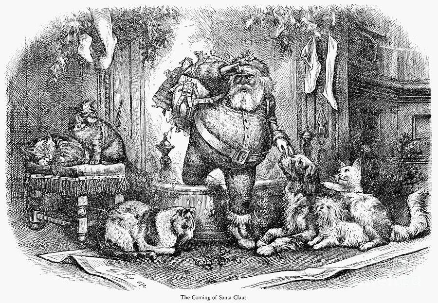 19th Century Photograph - Thomas Nast: Santa Claus by Granger