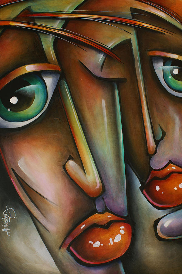 Portrait Painting - Together by Michael Lang