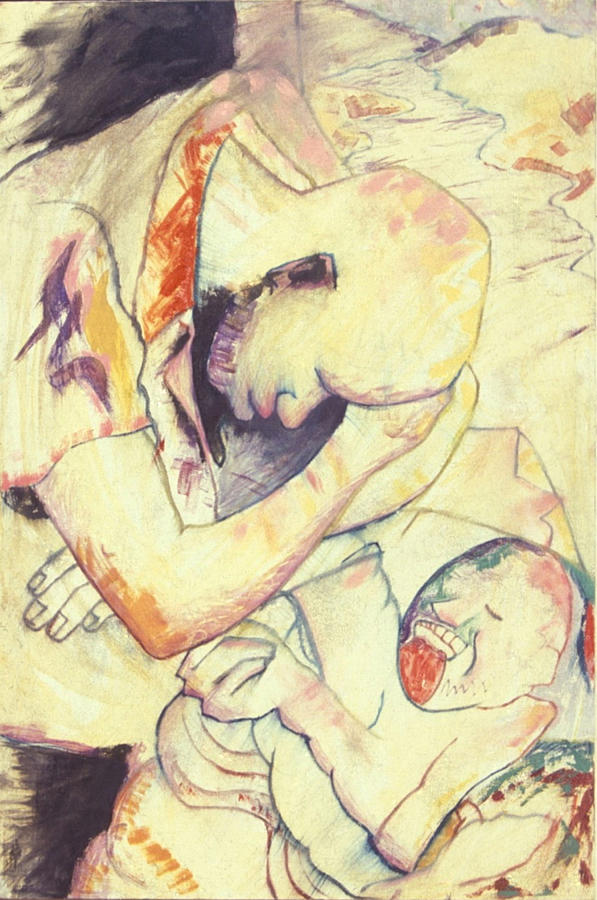 Expressionism Drawing - Trapped In Time by John Powell