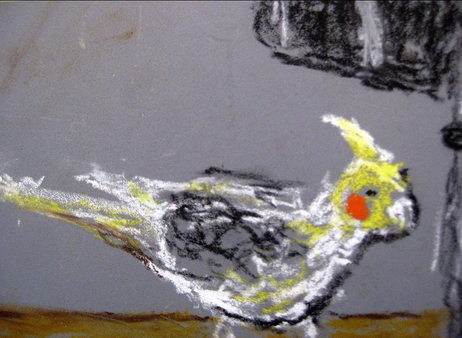 Bird Painting - Untitled by Iris Gill