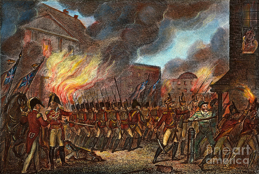 Washington Burning 1814 Photograph By Granger