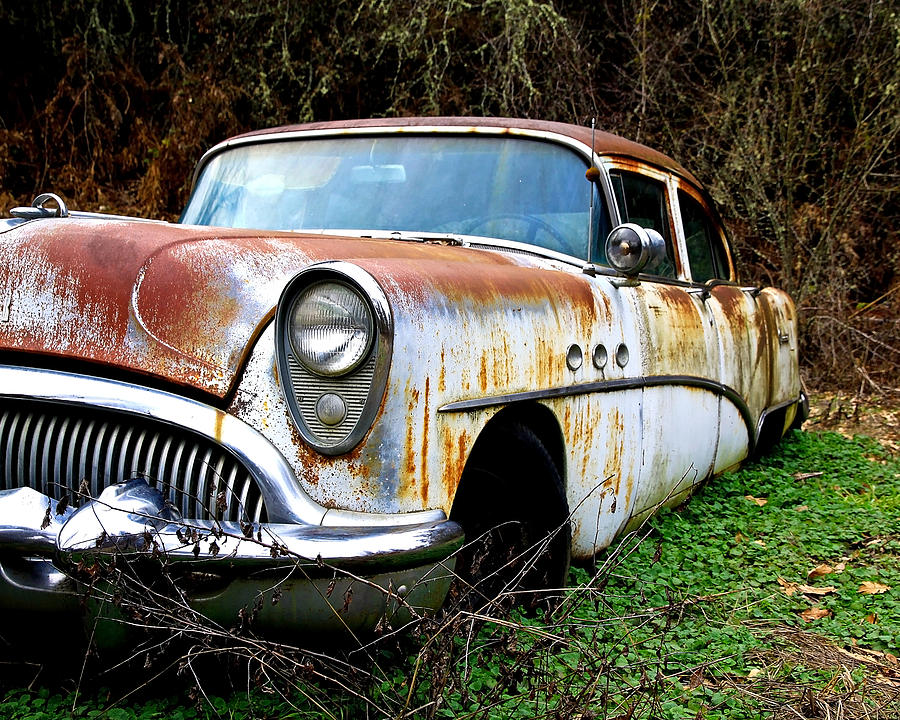 Buick Photograph - 50s Cruiser Of The Past by Steve McKinzie