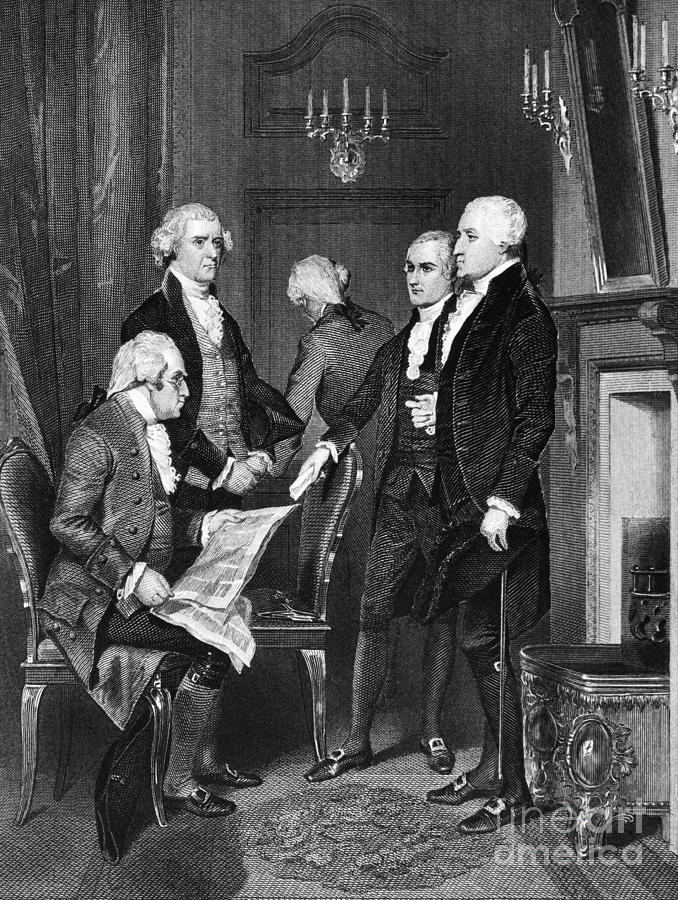 thomas jefferson and alexander hamilton the two giants of the washington administration He appointed two political adversaries to his cabinet, alexander hamilton as treasury secretary and thomas jefferson as secretary of state, hoping that the two.