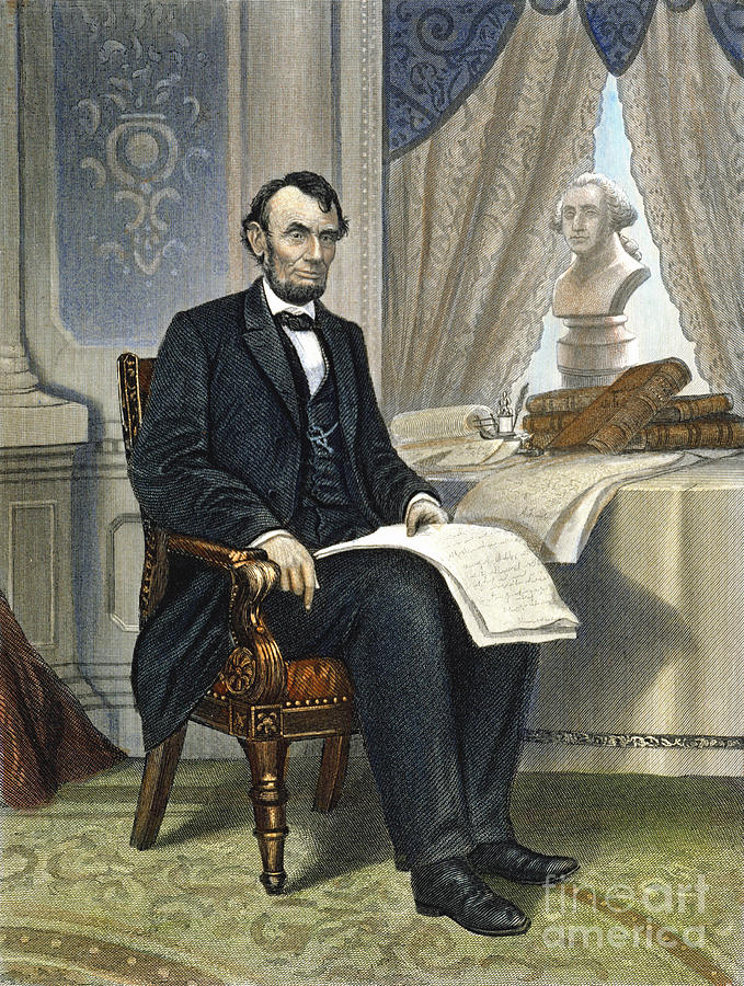 19th Century Photograph - Abraham Lincoln by Granger