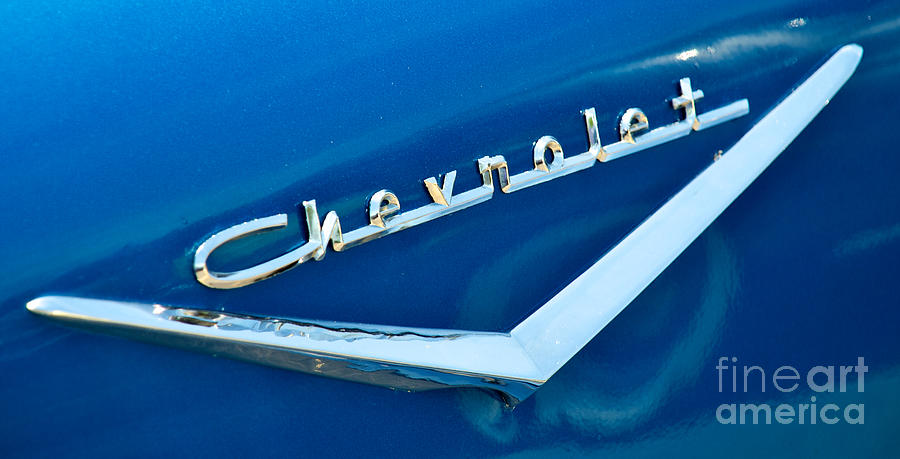 57 Chevy Photograph - 57 Chevy Bel Air Emblem by Mark Dodd